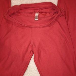 Red orange lularoe leggings